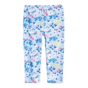 NWT First Impressions Blue Floral Leggings 24mo